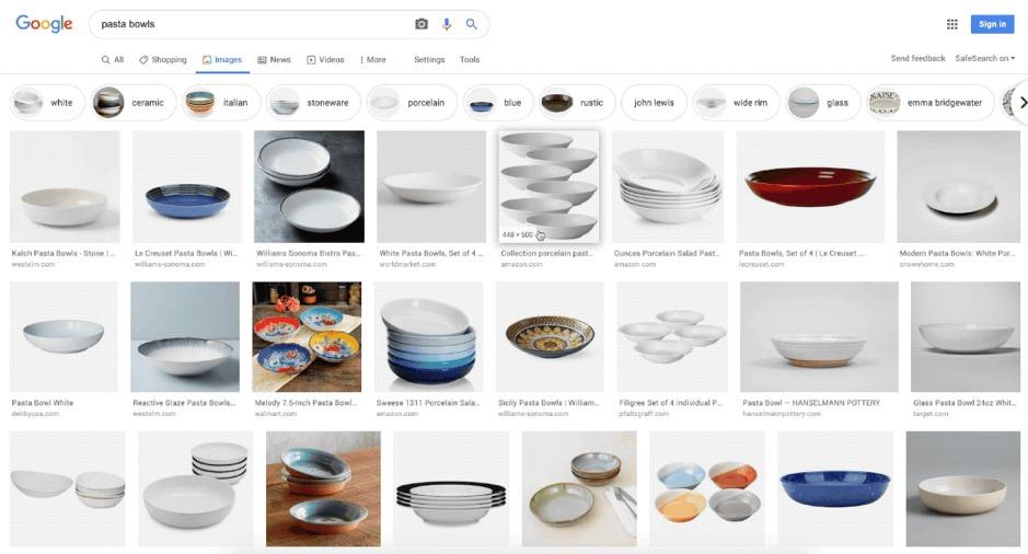 Nieuwe functie Google afbeeldingen