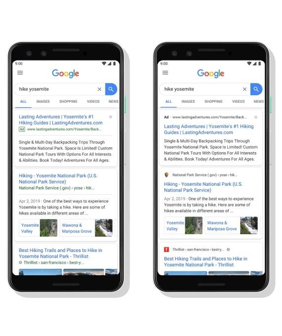 Nieuwe look zoekresultaten Google | Online marketing Nieuws | Succesfactor.nu