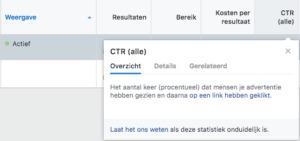 Facebook tooltips 'overzicht'