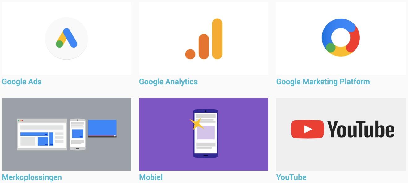 Te behalen Certificaten Google Academy for Ads