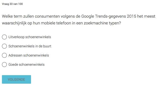 Vragen uit de Examen van Google Academy for Ads komen uit oude onderzoeken
