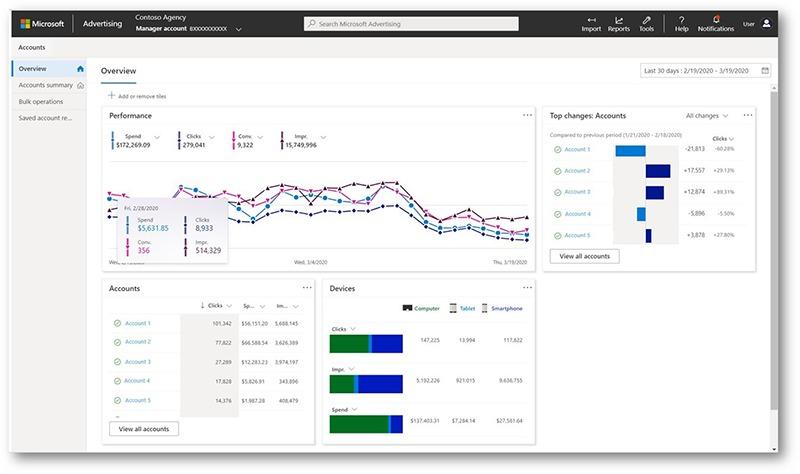 Vernieuwde interface Microsoft Ads