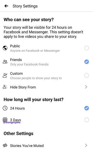 Facebook test stories die langer zichtbaar zijn