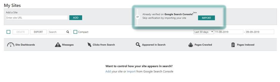 Microsoft maakt het mogelijk websites te integreren van Google Search Console naar Bing Webmaster Tool