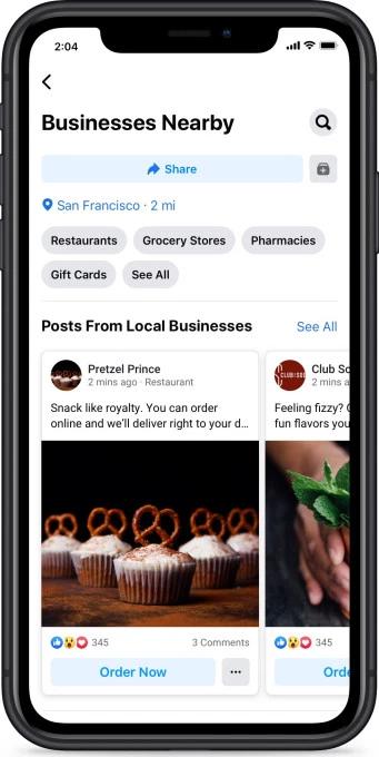 Lokale vindbaarheid Facebook & Instagram