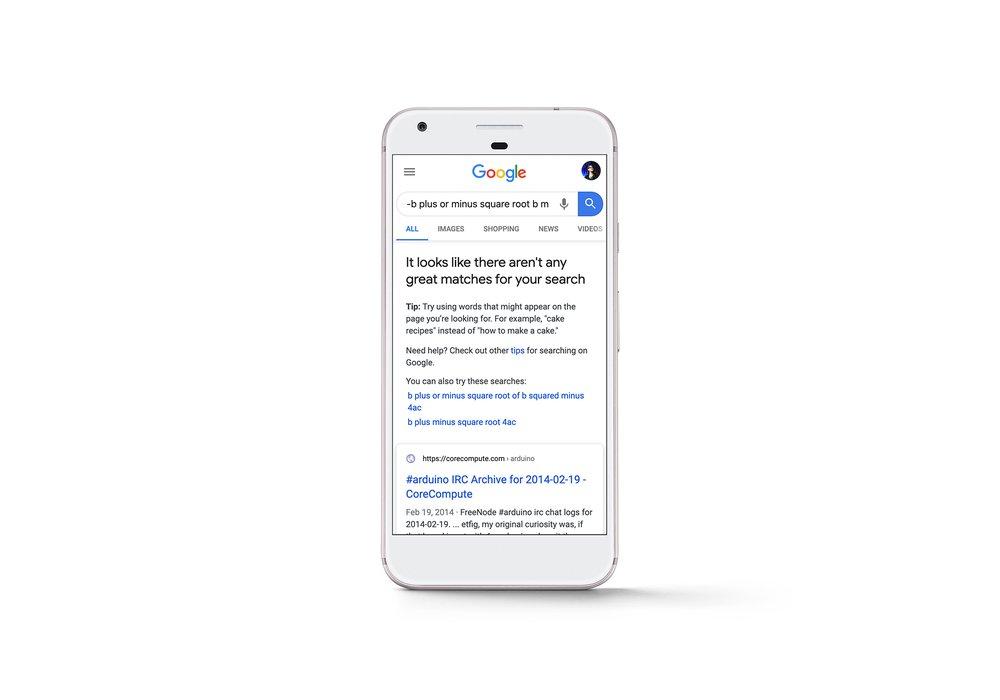 Google gaat meldingen weergeven wanneer er geen relevante zoekresultaten zijn - Online Marketing nieuws