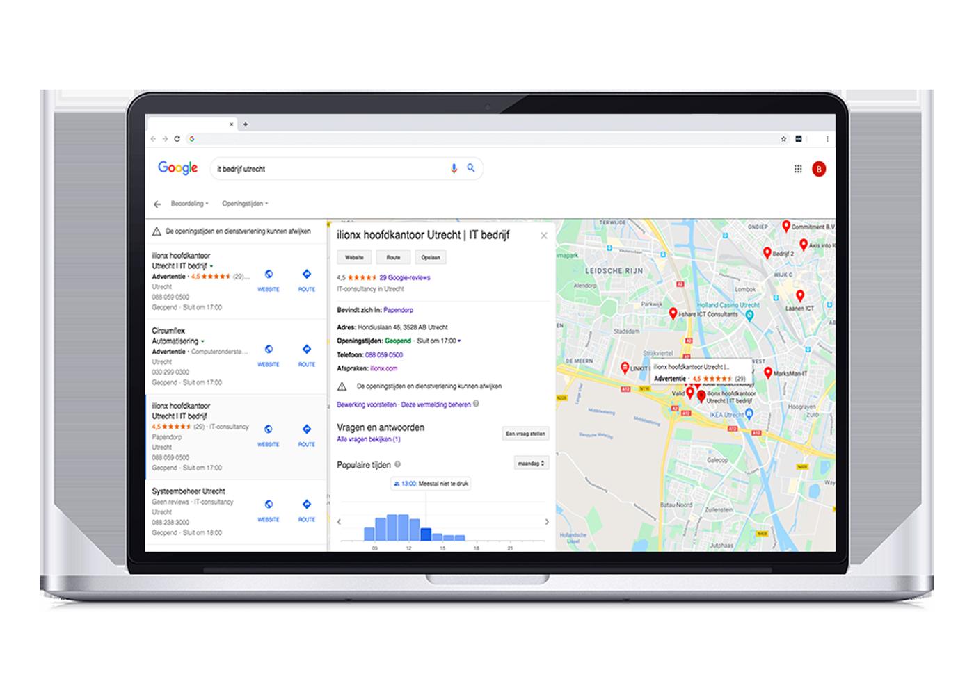 Case ilionx - Optimaliseren Google Mijn Bedrijf