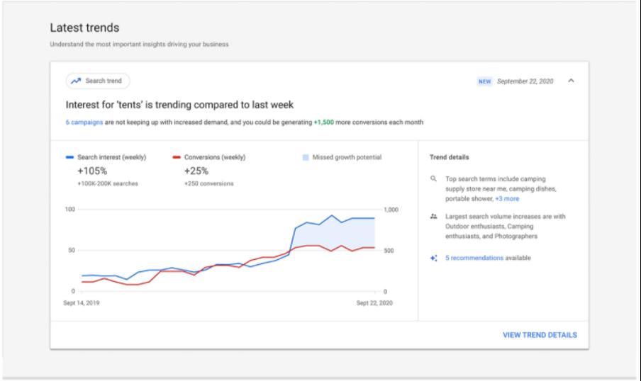 Toevoeging aan insights google ads 2
