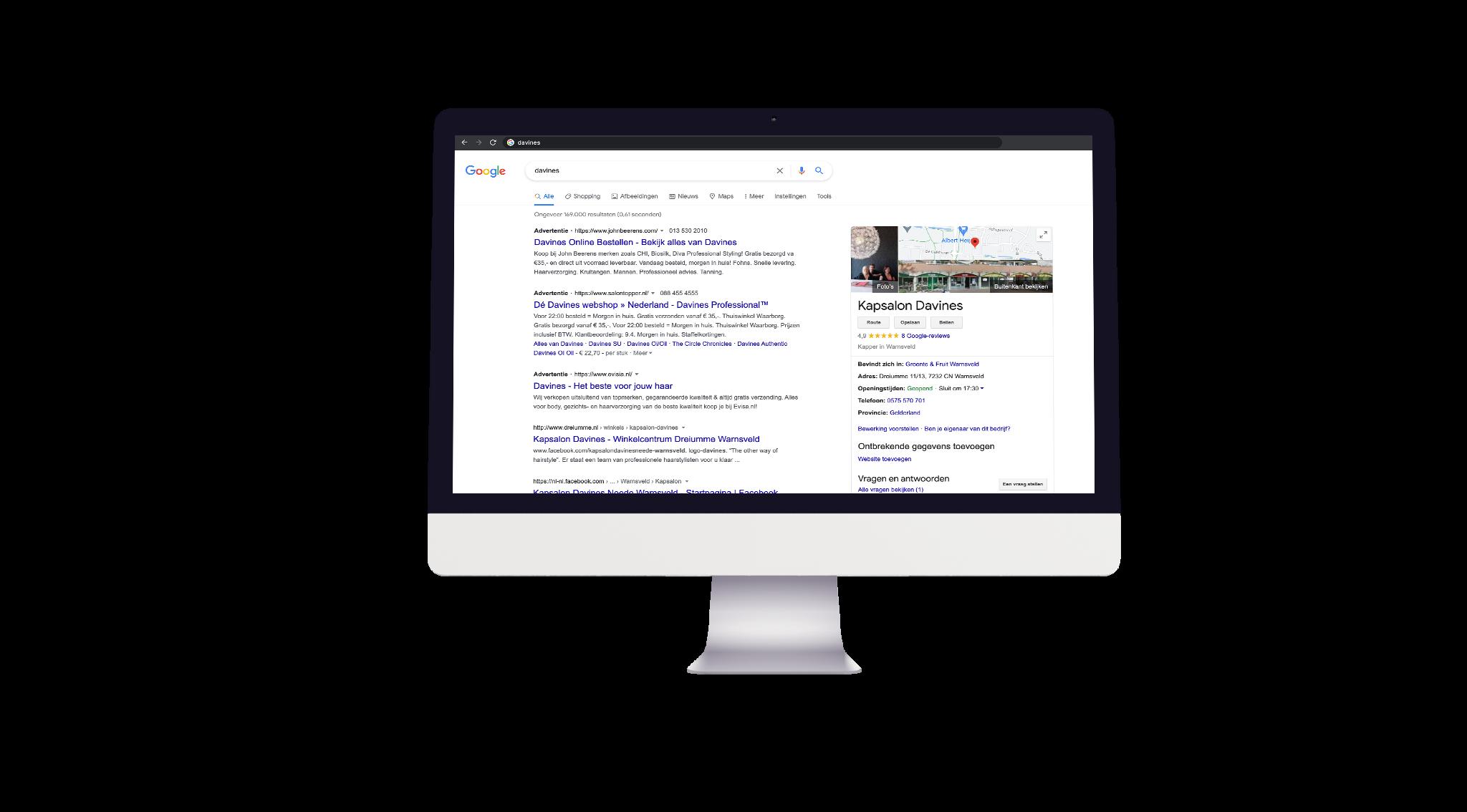 Davines google mijn bedrijf